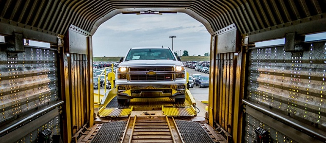 Image result for transporting cars by train
